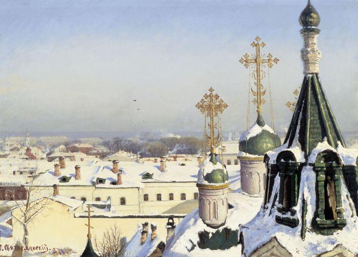 «Из окна Московского училища живописи» 1878 Холст, масло 53 х 74 Государственная Третьяковская галерея Москва