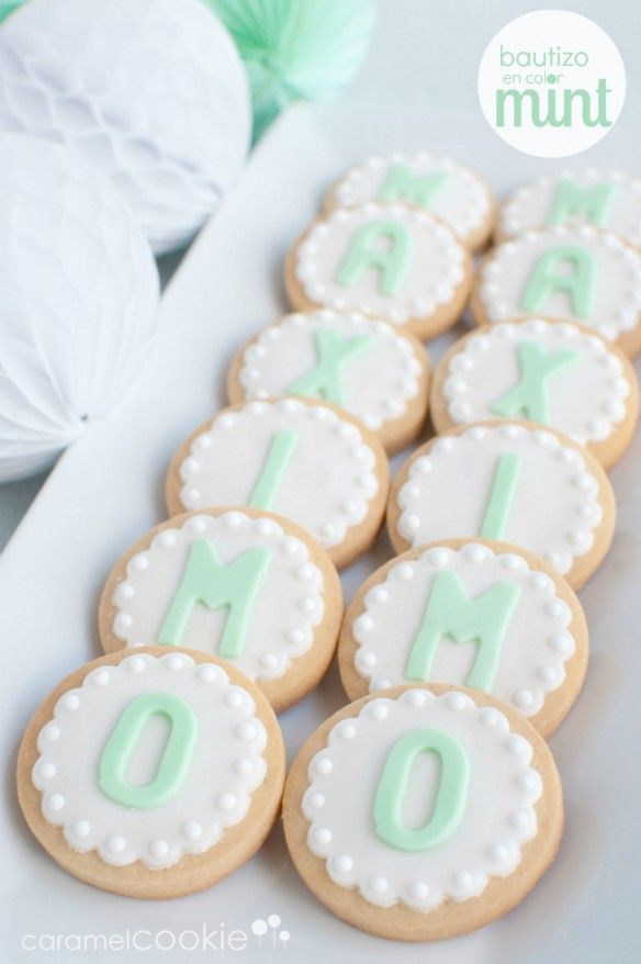 Caramel Cookie | mint baby shower