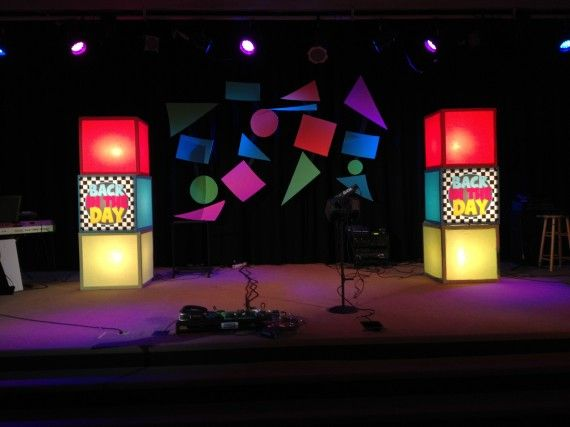 Diy Light Boxes Low Cost Church Stage Design Kids