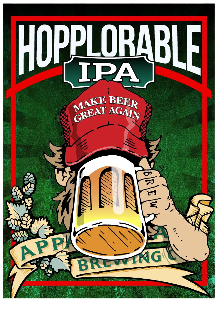 Appalachian Brewing Company  Try our specialty beer Hopplorable IPA!  This IPA is an example of malt simplicity. We only used one type of malt; all base pale two row malt. This beer is meant to let the fruity hops shine. The hops are a blend of Simcoe and Mosaic. Mosaic lends a nice fruity component that has a slight tropical edge with Simcoe contributing a grapefruit/citrus and pine character.