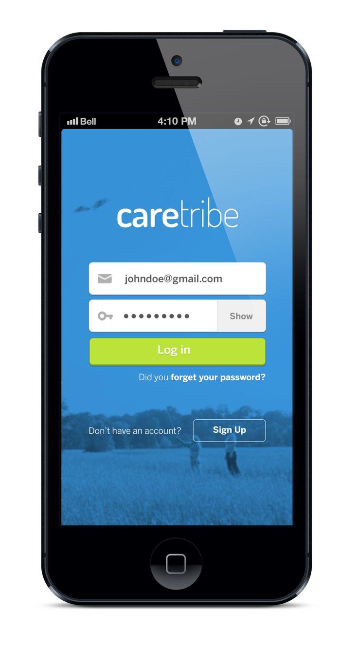 Dribbble social app ui design jpg by ramotion - Caretribe Log In Form Designui Ux Designapp