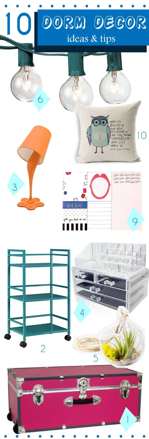 Dorm room ideas for girls #college #dorm #decor