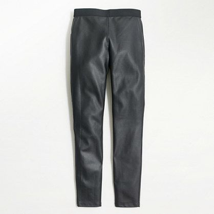 Faux-leather skinny pant