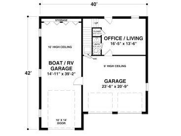 Lower Level Floorplan Image Of Boat RV Garage Office House Plan