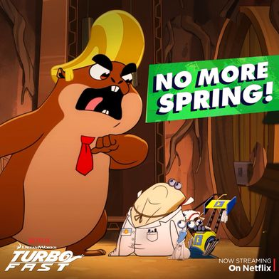"""White Shadow and Skidmark have been assigned to Spring cleaning, and there's only one solution to this problem - stop Spring from coming! Watch them try to stop the Groundhog from seeing his shadow in """"Groundhog, Stay!"""" on Netflix."""