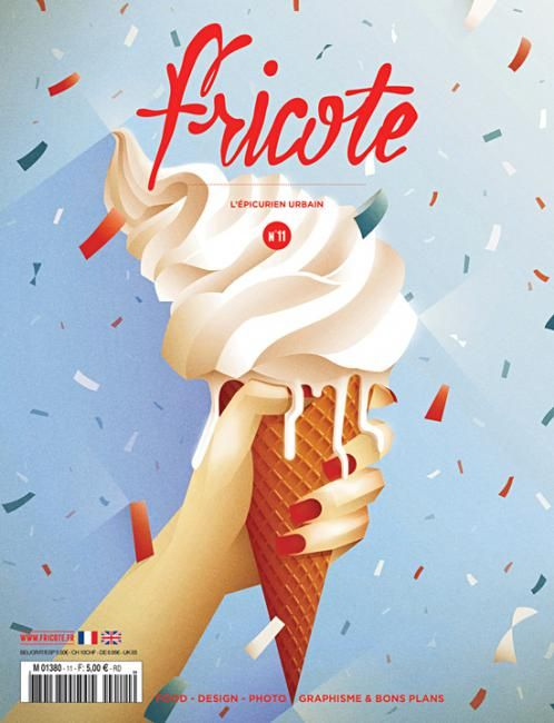 """coverjunkie: """" Fricote (France) Sweet new cover Fricote magazine: """"when you're not food critic or expert, nor cook or chef but you just know when it tastes good, don't feel left out, read..."""