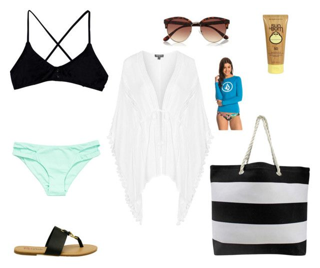 """""""Pool Day Outfit!  """" by keana-marie-1 on Polyvore featuring RVCA, L*Space, River Island, Topshop, Sun Bum and Volcom"""