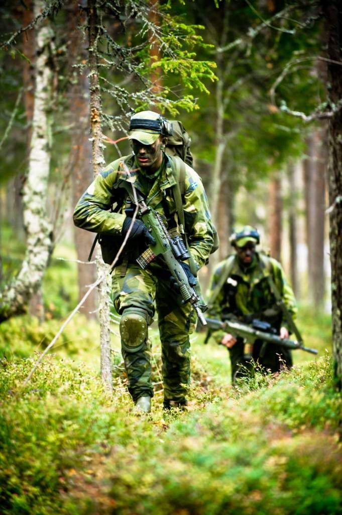 Swedish Army Ranger candidates during the 12 month long Basic Ranger Course.