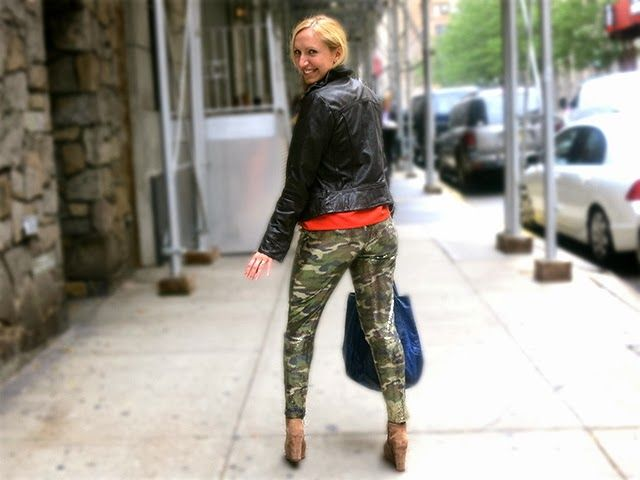 Sequins Camo pants and Bright Orange top for the Wendy ...