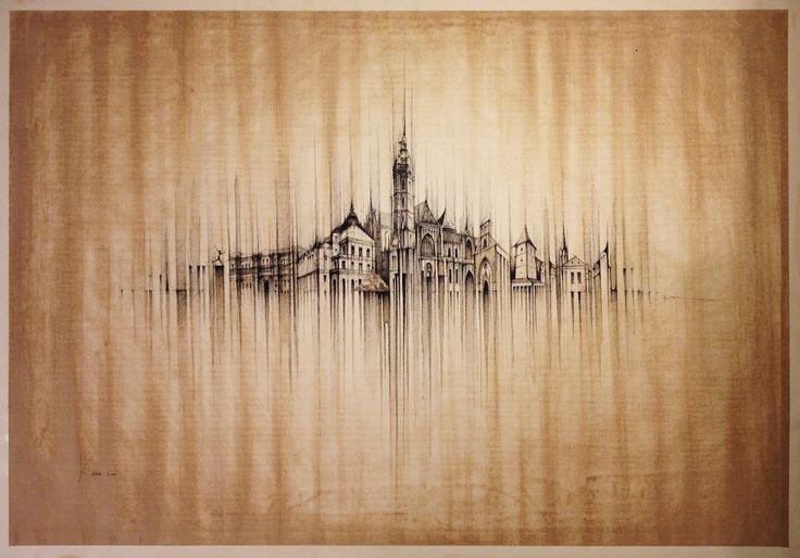 KOSICE PANORAMA  Drawing on paper, 100x10cm, ink, coffe  © Pavel Filgas 2015  #slovensko #artists #kresba #world #amazing #drawing #draw #pen #sketch #sketchbook #pavelfilgas #theatre #bnw #love #art #ilustration #blackandwhite #graphic #city #iblackwork #artlovers #kosice #slovakia #history