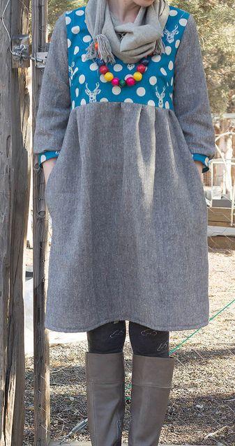 Washi dress by Casa Kelley, via Flickr (Made By Rae pattern)