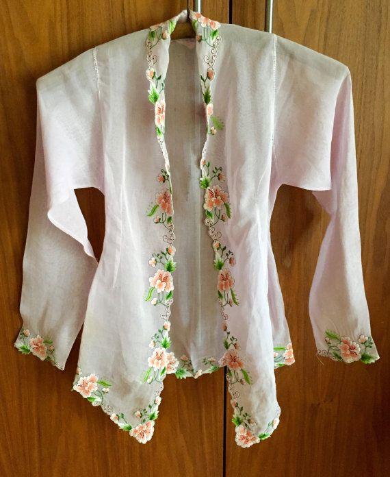 Lilac Kebaya Top traditional Indonesian by ButDaddyIWantItNow