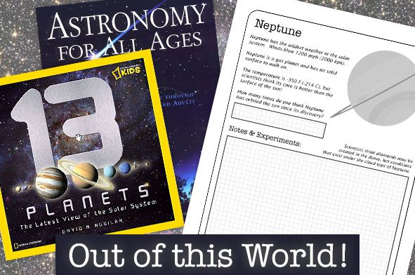 Study the latest view of our solar system with all 13 planets. Homeschool notebooking packet:  $5.00 download.