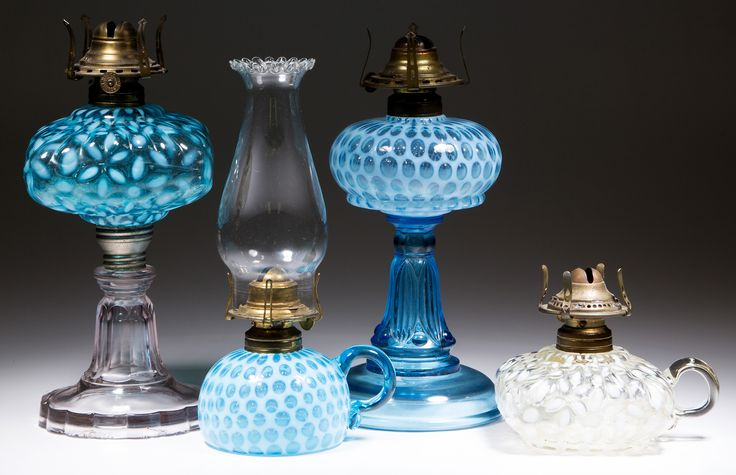 Over 30 good opalescent stand and finger lamps | 8.29.2015