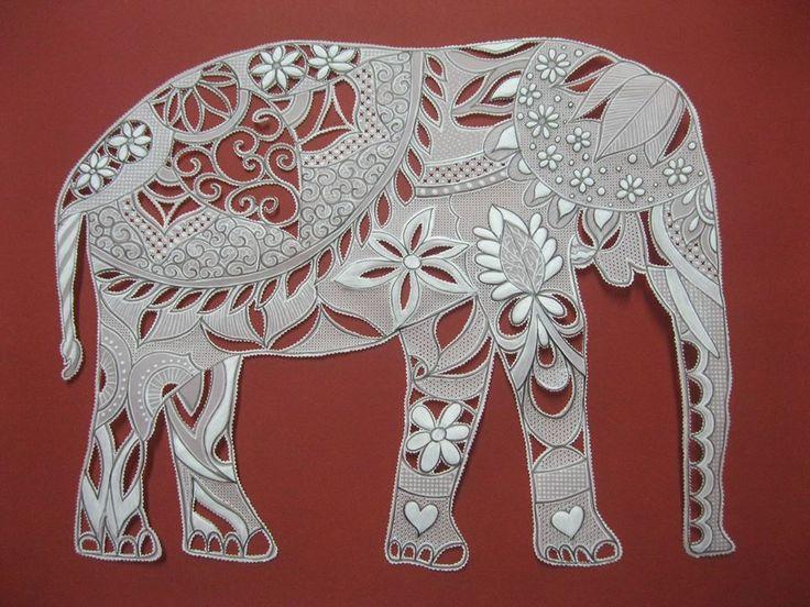 Elefante adaptado de um modelo zentagle