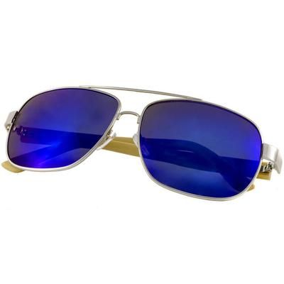 Ξύλινα Γυαλιά Ηλίου Bamboo Aviators BLUE-e-chap