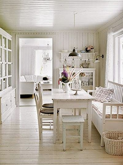 Perfect Swedish style interior in shades of white