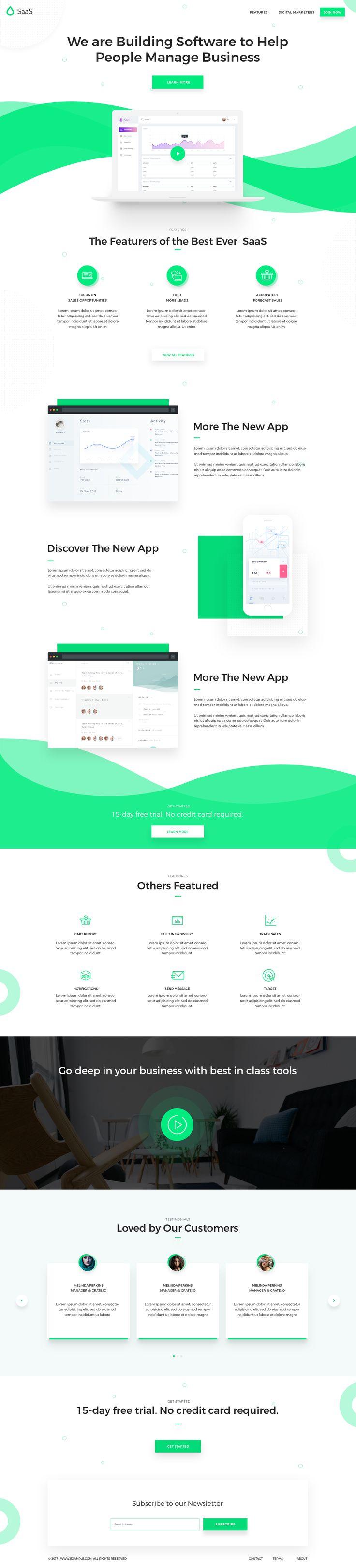 SaaS Software Landing Page