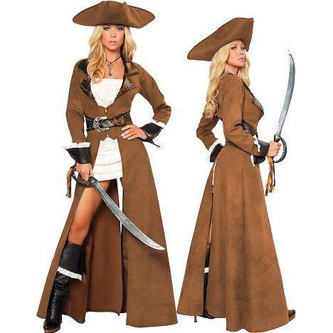 5PC Deluxe Pirate Captain Costume