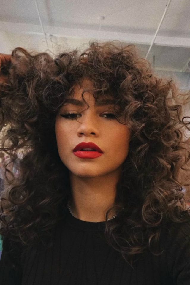 Pin by tiana scott on Aesthetic | Zendaya hair, Curly hair