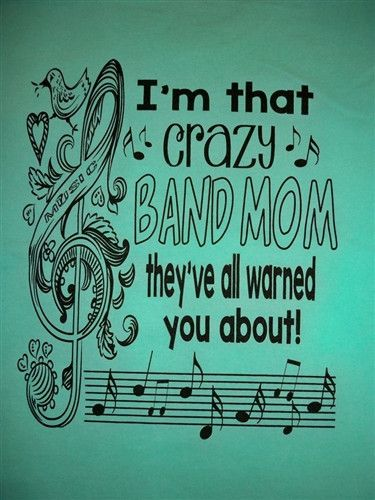 Southern Chics Crazy Band Mom Everyone Warned You About Girlie Comfort Colors Bright T Shirt