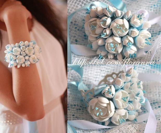 Жасмин из полимерной глины Свадебный браслет. Браслет с цветам, браслет невесты, нарядный браслет, браслет на руку с цветами, стильный браслет, браслет с цветами из полимерной глины.