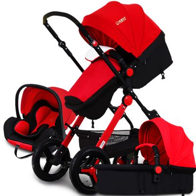 Multifunctional Baby Stroller Can Sit Lying Folding Kinderwagen Baby Car Seat Basket Portable Shockproof Prams And Pushchair