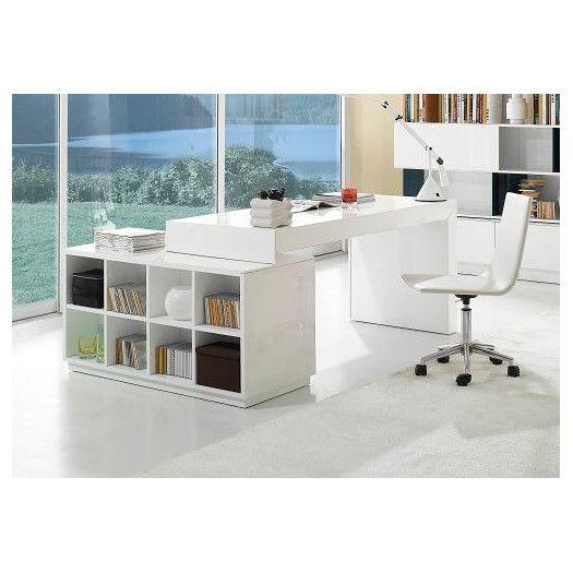J&M Furniture Modern Office Desk with Hutch
