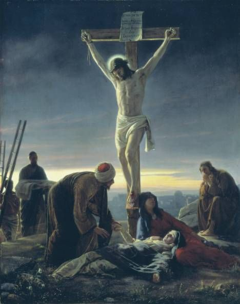 Real Roman Crucifixion | Painting of The Crucifixion by Carl Heinrich Bloch