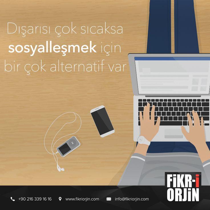 Sosyalleşmek için alternatif çok :) #digital #graphic #visual #art #web #webdesign #design #social #creative #marketing #work #office #fikriorjin