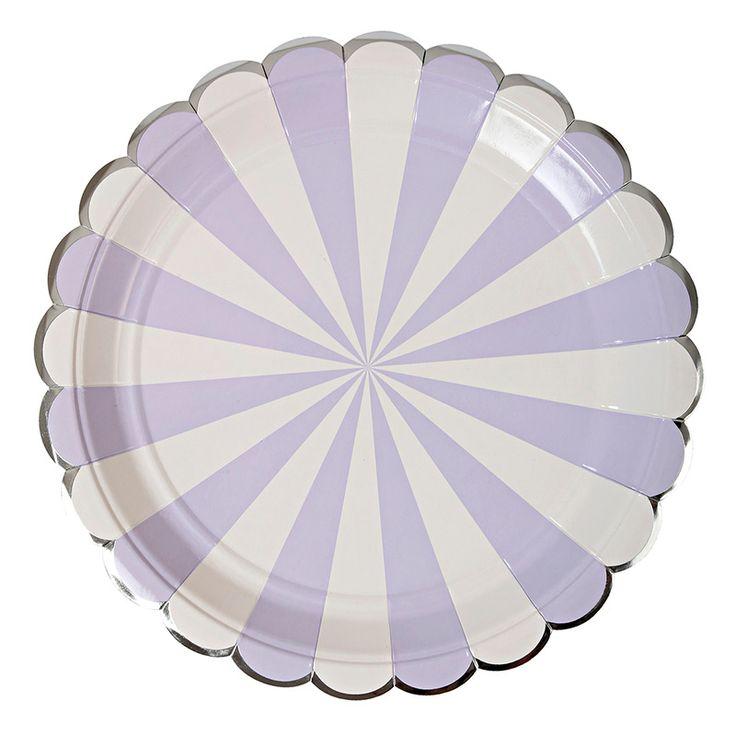 Paperilautanen piparireunus, laventeli (8 kpl)