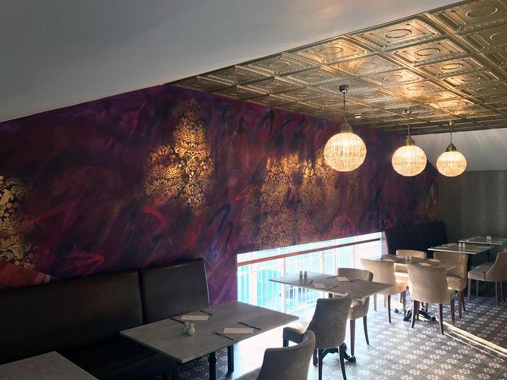 Food Worthing - Restaurant  bespoke graphics #handfinished #digitalwallpaper #mural #handpainted #graffiti