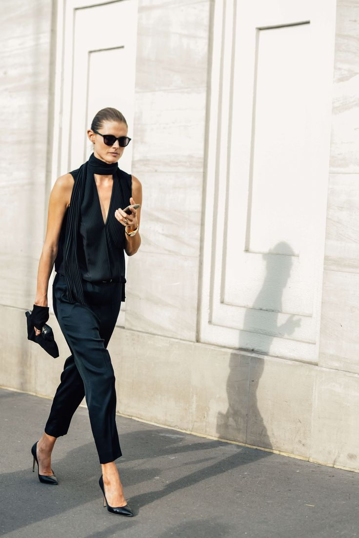 Black on black | Style | The Lifestyle Edit / Malgosia Bela in Paris - Bxy Frey