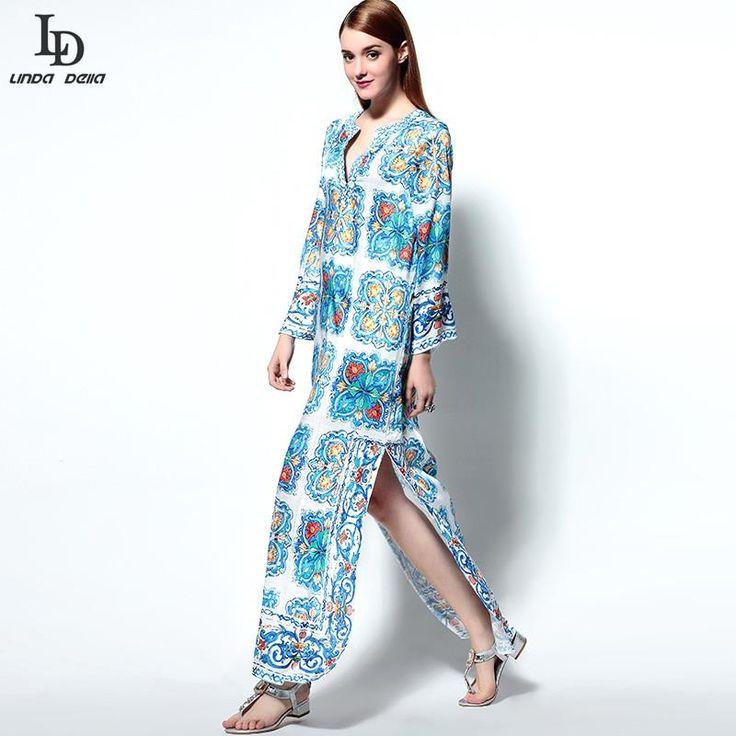 Fashion Women Long Sleeve Party Wear Red Printing Long Dress Plus size XXL Love it? www.sukclothes.co... #shop #beauty #Woman's fashion #Products