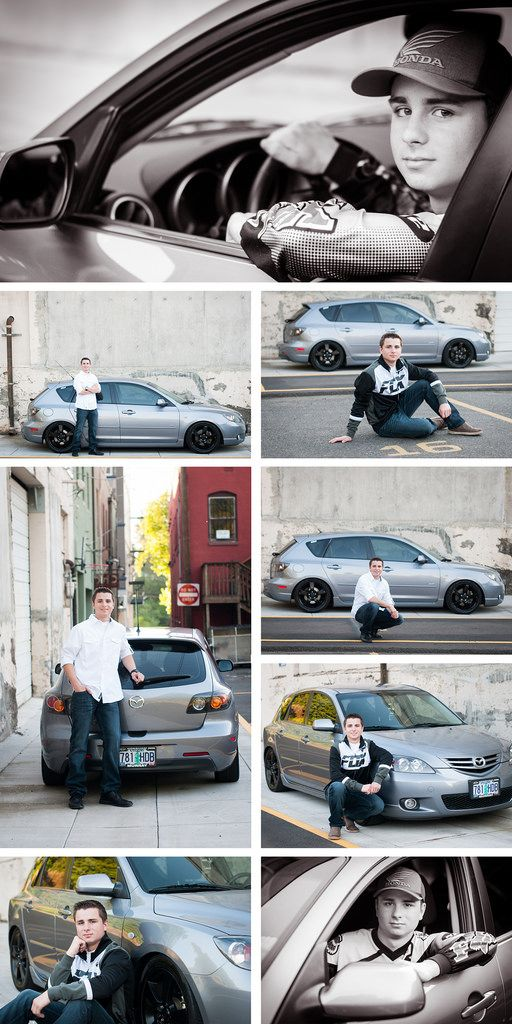 Urban Senior Guy Pictures / Teen Boy with car/ Robinwood Photographer