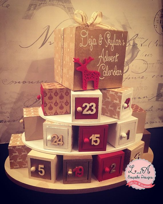 Wooden Advent Calendar. by LandAbespoke on Etsy                                                                                                                                                                                 More