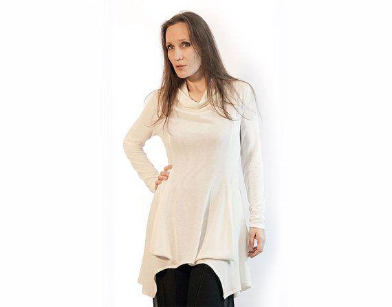 Blousewhite blouseoff white blouselong by AnnaPerena on Etsy, $65.00