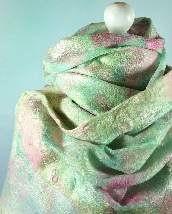 Nuno vilten zijden sjaal omslag sjaal Gevilte omslagdoek