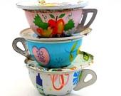 LOVETeas Time, Tins Teas, For Kids, Teas Cups, Vintage Tins, Teas Sets, Vintage Toys, Toys Teas, Tea Cup Saucer