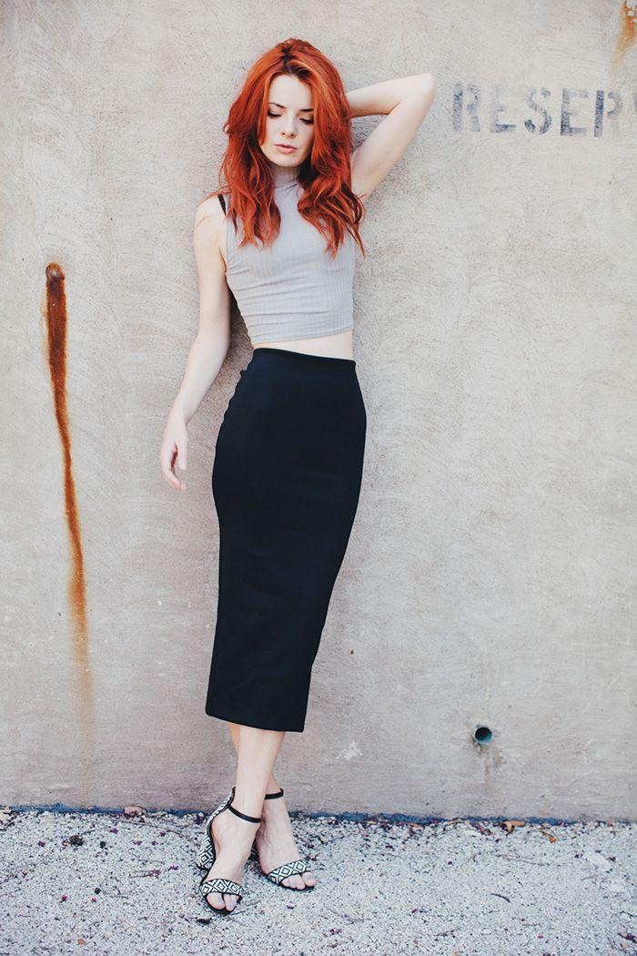 Redhead pencil skirt gallery corrina