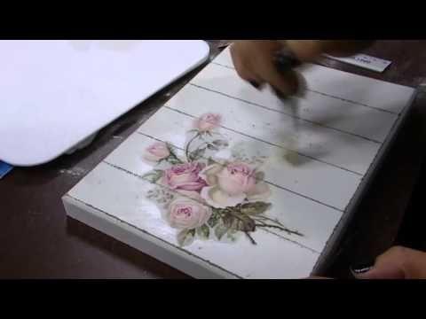 DIY | Faça Você Mesmo | Caixa Vintage Pátina com Rosas | Livia Fiorelli | LiFe Artesanato - YouTube