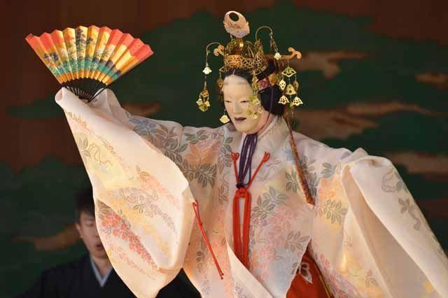 Nara. Japan. This is japanese traditional Nou dance. 櫻間初花会 : 奈良能公演日誌