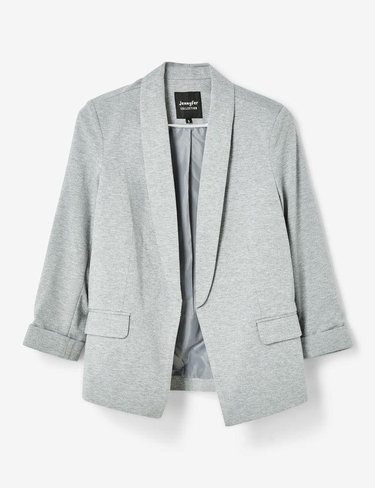 Veste blazer gris chiné femme • Jennyfer
