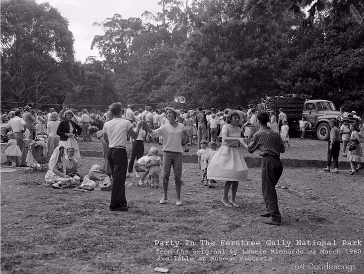 Rock & Roll takes over Ferntree Gully National Park ca 1960.