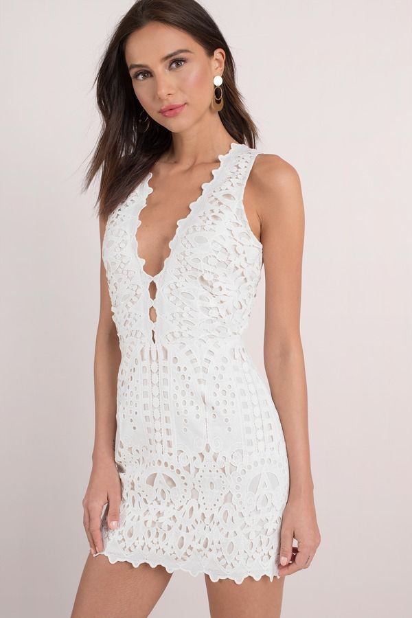 687267607b3 Looking for the Chantelle White Lace Up Bodycon Dress