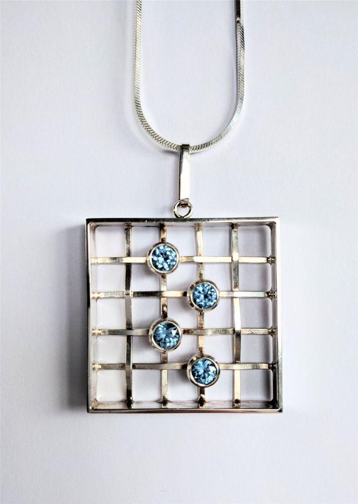 Salovaara finskt silver halsband från 1969 med stämplar.
