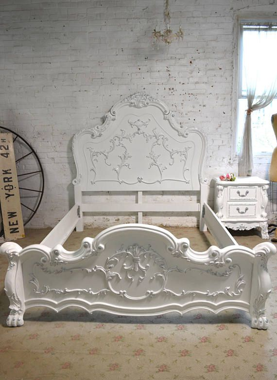 Painted Cottage Shabby Farmhouse Romantic Bed BD771