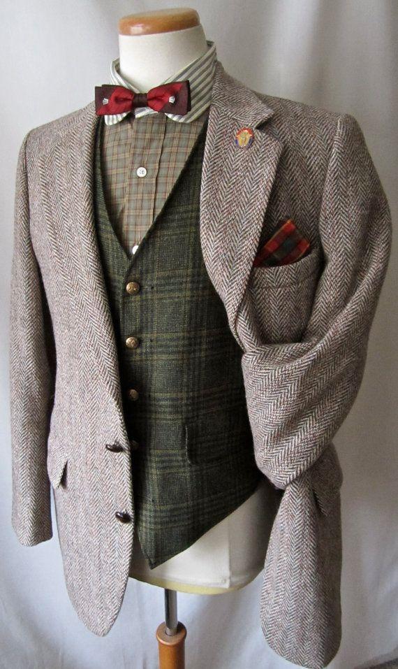 VTG HARRIS TWEED Blazer di lana 40 R giacca di SparrowsAndWolves