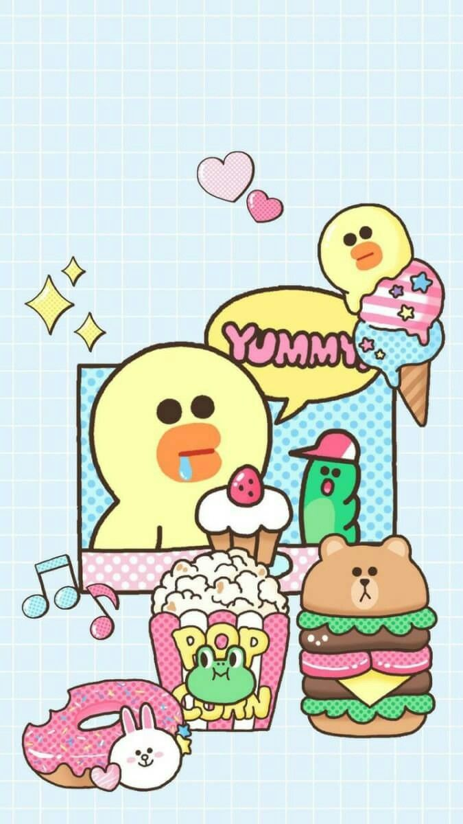 friends wallpaper bear wallpaper kawaii wallpaper wallpaper backgrounds funny wallpapers iphone wallpapers kakao friends line friends