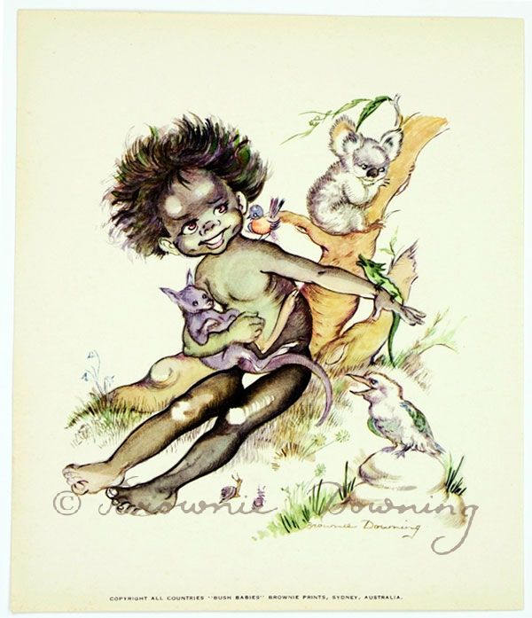 Print - indigenous Australian child 3 - Brownie Downing | Artist & Illustrator | Official Site